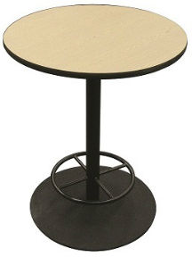Round Cafe Table with Foot Ring