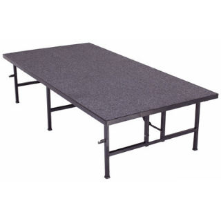 Carpeted Portable Stage, Fixed Height