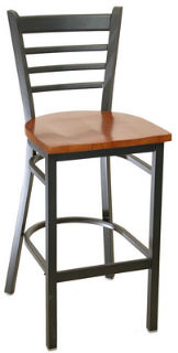Metal Ladder Back Barstool