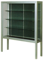 Premiere Freestanding Trophy Display Case w/ Aluminum Legs