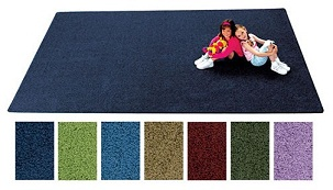 Kidply Soft Solids Carpet, 6 ' x 9'
