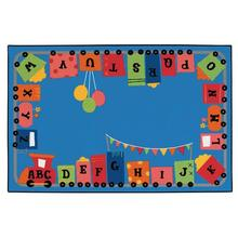 Alphabet Fun Train Carpet, 6' x 9'
