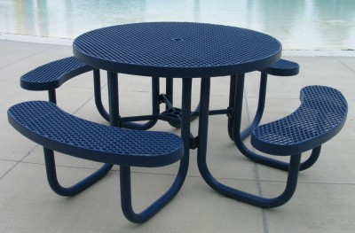 Champion Round Table with Benches