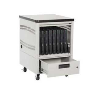 Mobile Laptop Depot Cart, 10 Slots