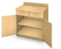 Illusions Base Shelf Cabinet/Lckng Drs and Drawers