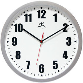 Silver Office Clock