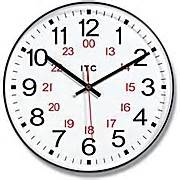 Prosaic Resin 24 Hour Wall Clock