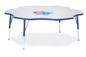 Berries Six Leaf Activity Table, 60