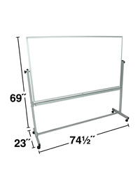 Double Sided Magnetic White Board 72