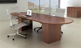 Two Piece Racetrack Conference Table, 192
