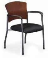Stack Guest Chair with Wood Back