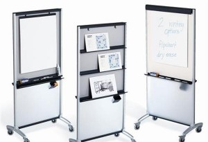 3-In-1 Total Erase Whiteboard Easel, 6.3' x 3'