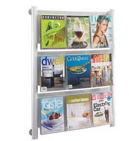 Luxe Magazine Rack, 9 Pocket
