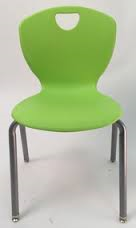 2 Thrive Contemporary Ribless Stack Chair