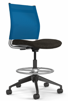 Wit Office Stool, Mesh Mid Back