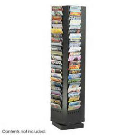 Steel Magazine Rack, 92 Pocket (4325BL)