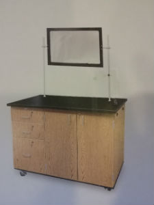 Mobile Science Demonstration Workstation w/ Mirror